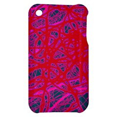 Red neon Apple iPhone 3G/3GS Hardshell Case
