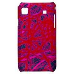 Red neon Samsung Galaxy S i9000 Hardshell Case
