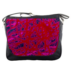 Red neon Messenger Bags