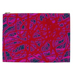 Red neon Cosmetic Bag (XXL)
