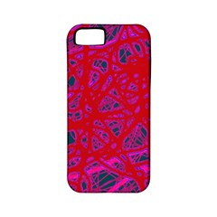 Red neon Apple iPhone 5 Classic Hardshell Case (PC+Silicone)