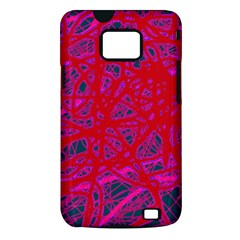Red neon Samsung Galaxy S II i9100 Hardshell Case (PC+Silicone)