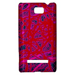 Red neon HTC 8S Hardshell Case