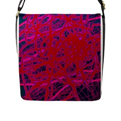 Red neon Flap Messenger Bag (L)