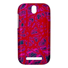 Red neon HTC One SV Hardshell Case