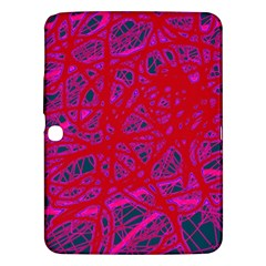 Red neon Samsung Galaxy Tab 3 (10.1 ) P5200 Hardshell Case