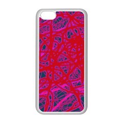 Red neon Apple iPhone 5C Seamless Case (White)