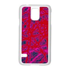 Red neon Samsung Galaxy S5 Case (White)