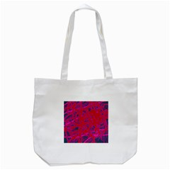 Red Neon Tote Bag (white)