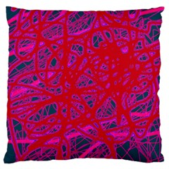 Red neon Standard Flano Cushion Case (One Side)