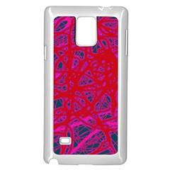 Red neon Samsung Galaxy Note 4 Case (White)