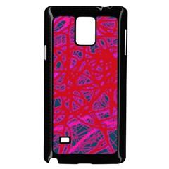 Red neon Samsung Galaxy Note 4 Case (Black)