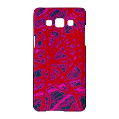 Red neon Samsung Galaxy A5 Hardshell Case