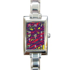 Abstract high art Rectangle Italian Charm Watch