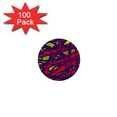 Abstract high art 1  Mini Buttons (100 pack)