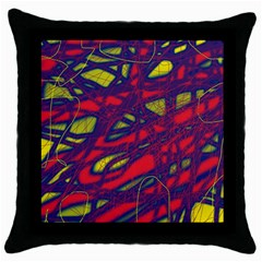 Abstract high art Throw Pillow Case (Black)