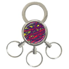 Abstract high art 3-Ring Key Chains