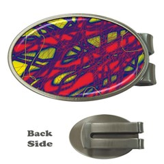 Abstract high art Money Clips (Oval)