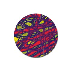 Abstract high art Magnet 3  (Round)