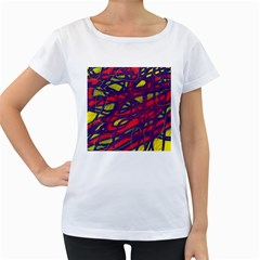 Abstract high art Women s Loose-Fit T-Shirt (White)