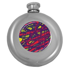 Abstract high art Round Hip Flask (5 oz)
