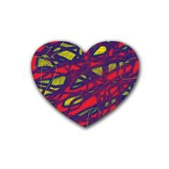 Abstract high art Heart Coaster (4 pack)
