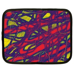 Abstract high art Netbook Case (Large)