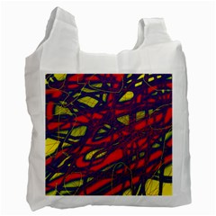 Abstract high art Recycle Bag (One Side)
