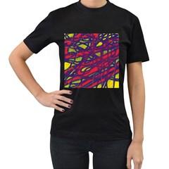 Abstract high art Women s T-Shirt (Black)