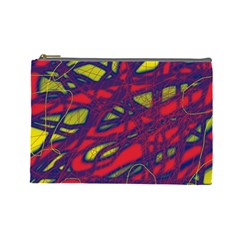 Abstract high art Cosmetic Bag (Large)