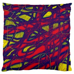 Abstract high art Large Cushion Case (One Side)