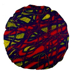 Abstract high art Large 18  Premium Round Cushions