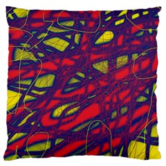 Abstract high art Large Flano Cushion Case (One Side)