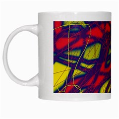 Abstract High Art White Mugs