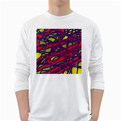 Abstract high art White Long Sleeve T-Shirts