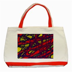 Abstract high art Classic Tote Bag (Red)