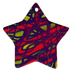 Abstract high art Star Ornament (Two Sides)