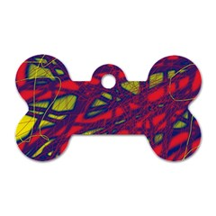 Abstract high art Dog Tag Bone (Two Sides)