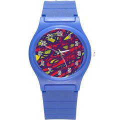 Abstract high art Round Plastic Sport Watch (S)