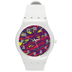 Abstract high art Round Plastic Sport Watch (M)