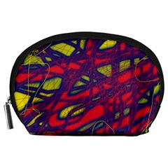 Abstract high art Accessory Pouches (Large)