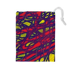 Abstract high art Drawstring Pouches (Large)