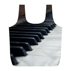 Piano Keys  Full Print Recycle Bags (L)