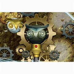 Steampunk, Awesome Owls With Clocks And Gears Collage Prints