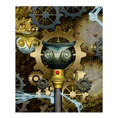Steampunk, Awesome Owls With Clocks And Gears Shower Curtain 60  x 72  (Medium)