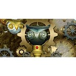Steampunk, Awesome Owls With Clocks And Gears Congrats Graduate 3D Greeting Card (8x4) Front