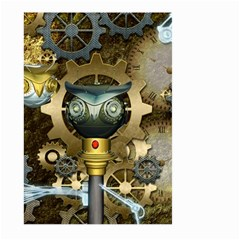Steampunk, Awesome Owls With Clocks And Gears Large Garden Flag (Two Sides)
