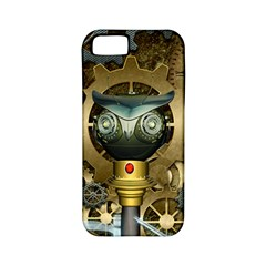 Steampunk, Awesome Owls With Clocks And Gears Apple iPhone 5 Classic Hardshell Case (PC+Silicone)