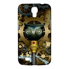 Steampunk, Awesome Owls With Clocks And Gears Samsung Galaxy Mega 6.3  I9200 Hardshell Case