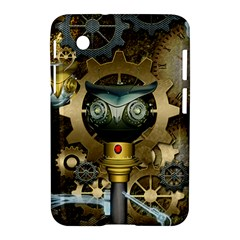 Steampunk, Awesome Owls With Clocks And Gears Samsung Galaxy Tab 2 (7 ) P3100 Hardshell Case